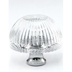 Cal Crystal G248 Crystal Grooved Knob
