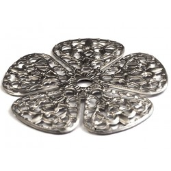 Cal Crystal 760BP Flower Backplate for Crystal Knobs