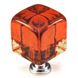 Cal Crystal ARTX-CLB Glass Cube Cabinet Knob
