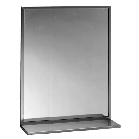 Bobrick B-166 18A½ x 30A½ Channel-Frame Mirror / Shelf Combination