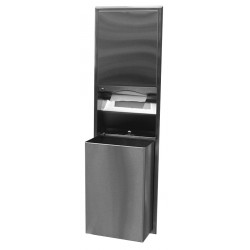 Bobrick B-3947 ClassicsSeries Recessed Convertible Paper Towel Dispenser/ 18Gallon (68.0 L) Waste Receptacle