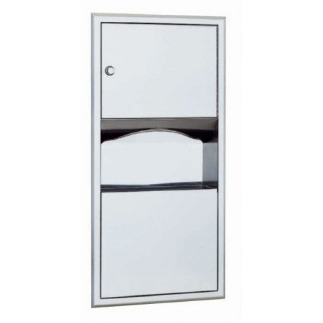 Bobrick b 369 classicseries recessed paper towel dispenser - Commercial bathroom waste receptacles ...