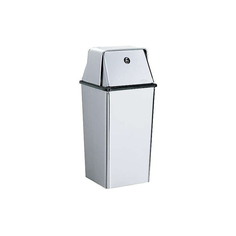 Bobrick b 2250 floor standing waste receptacle with top for Floor receptacle
