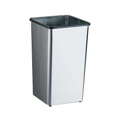 Bobrick B-2260 Floor Standing Open-Top 13-Gallon Waste Receptacle