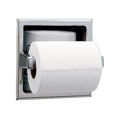 Bobrick B 663 Recessed Toilet Tissue Dispenser With Storage Space For Extra Roll