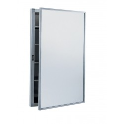 Bobrick B-398 Recessed Medicine Cabinet with Stainless Steel Shelves