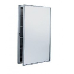 Bobrick B-299 Surface-Mounted Medicine Cabinet with Stainless Steel Shelves