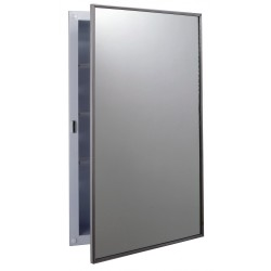 Bobrick B-397 Recessed Medicine Cabinet with Plastic Shelves