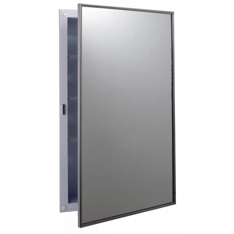 bobrick b 397 recessed medicine cabinet with plastic shelves. Black Bedroom Furniture Sets. Home Design Ideas