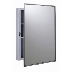 Bobrick B-297 Surface-Mounted Medicine Cabinet with Two Shelves