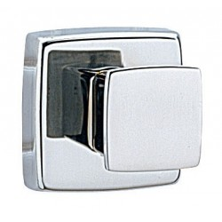 "Bobrick B-671 Single Robe Hook 1 1/4"" High, 1 1/4 Wide (30 x 30mm) Projects 2"" (50mm) from Wall"