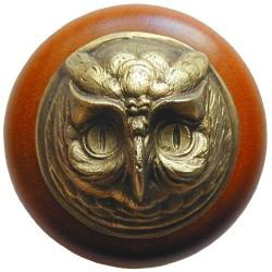 Notting Hill NHW-711 Wise Owl Wood Knob 1-1/2 diameter