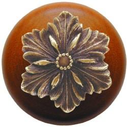 Notting Hill NHW-725 Opulent Flower Wood Knob 1-1/2 diameter