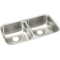 Elkay EGUH3118 Gourmet (Elumina) Stainless Steel Double Bowl Undermount Sink
