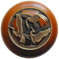 Notting Hill NHW-737 Crane Dance Wood Knob 1-1/2 diameter