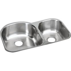 Elkay EGUH311910R Harmony (Elumina) Stainless Steel Double Bowl Undermount Sink