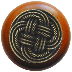 Notting Hill NHW-739 Classic Weave Wood Knob 1-1/2 diameter