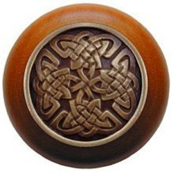 Notting Hill NHW-757 Celtic Isles Wood Knob 1-1/2 diameter