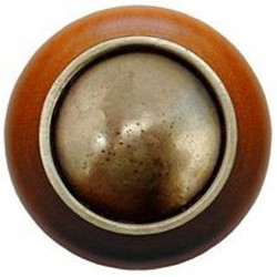 Notting Hill NHW-761 Plain Dome Wood Knob 1-1/2 diameter
