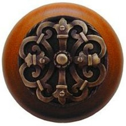 Notting Hill NHW-776 Chateau Wood Knob 1-1/2 diameter