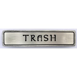Notting Hill NHP-311 Engraved TRASH (Horizontal) Pull 4 x 7/8