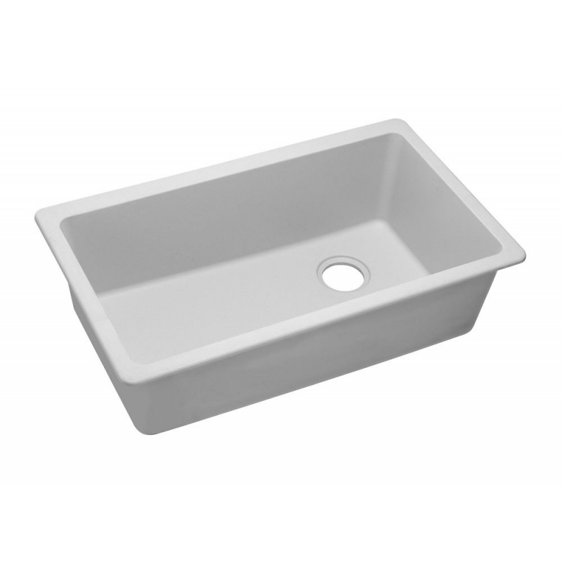 Elkay Elgu13322 Gourmet E Granite Single Bowl Undermount Sink