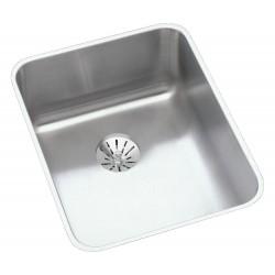 Elkay ELUH141810PD Gourmet (Lustertone) Stainless Steel Single Bowl Undermount Sink Kit