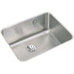 Elkay ELUH211510EK Gourmet (Lustertone) Stainless Steel Single Bowl Undermount Sink Kit