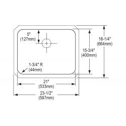 Elkay ELUH211510PD Gourmet (Lustertone) Stainless Steel Single Bowl Undermount Sink Kit