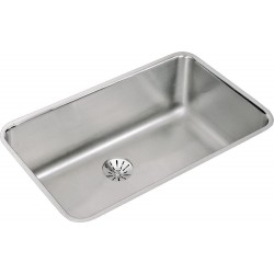Elkay ELUH281610PDBG Gourmet (Lustertone) Stainless Steel Single Bowl Undermount Sink Kit