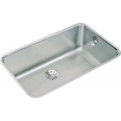 Elkay ELUH281610PDK Gourmet (Lustertone) Stainless Steel Single Bowl Undermount Sink Kit