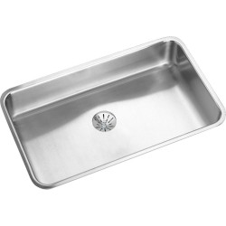 Elkay ELUH2816PD Gourmet (Lustertone) Stainless Steel Single Bowl Undermount Sink Kit
