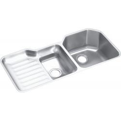 Elkay ELUH4221R Harmony (Lustertone) Stainless Steel Double Bowl Undermount Sink