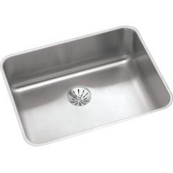Elkay ELUHAD211555PD Gourmet (Lustertone) Stainless Steel Single Bowl Undermount Sink Kit