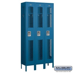 Salsbury Assembled Vented Metal Locker Three Wide