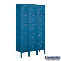 Salsbury Assembled Box Style Metal Locker Three Wide