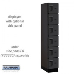 Salsbury Designer Wood Locker - Six Tier Box Style - 1 Wide - 6 Feet High