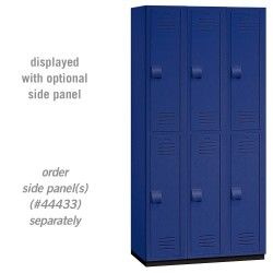 Salsbury Heavy Duty Plastic Locker - Double Tier - 3 Wide - 6 Feet High - 18 Inches Deep