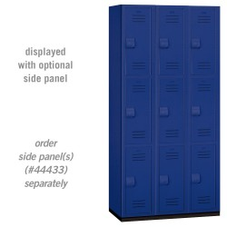 Salsbury Heavy Duty Plastic Locker - Triple Tier - 3 Wide - 6 Feet High - 18 Inches Deep