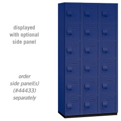 Salsbury Heavy Duty Plastic Locker - Six Tier Box Style - 3 Wide - 6 Feet High - 18 Inches Deep