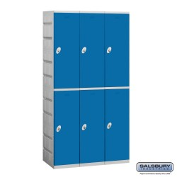 Salsbury Plastic Locker - Double Tier - 3 Wide - 73 Inches High - 18 Inches Deep