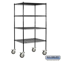 Salsbury Tall Wire Shelving - 36 Inches Wide - 24 Inches Deep