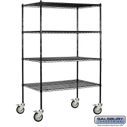 Salsbury Tall Wire Shelving - 48 Inches Wide - 24 Inches Deep