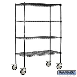 Salsbury Tall Wire Shelving - 48 Inches Wide - 18 Inches Deep