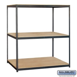 Salsbury Solid Shelving - 72 Inches Wide - 84 Inches High - 36 Inches Deep