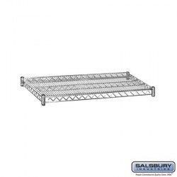 Salsbury Wire Shelving - Additional Shelves for 9538S/9638S and 9538M/9638M - 36 Inches Wide- 18 Inches Deep