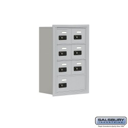 "Salsbury 1914807 Cell Phone Lockers Four Door High, 8"" Deep Compartments with Front Access Panel"