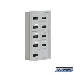 "Salsbury 1915509 Cell Phone Lockers Five Door High, 5"" Deep Compartments with Front Access Panel"