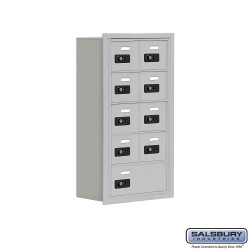 "Salsbury 1915809 Cell Phone Lockers Five Door High, 8"" Deep Compartments with Front Access Panel"