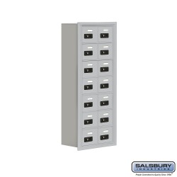 "Salsbury 1917814 Cell Phone Lockers Seven Door High, 8"" Deep Compartments with Front Access Panel"